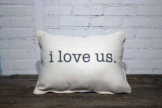 I love Us Pillow (2 week lead time) - Briddick Tile + Stone