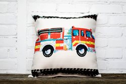 Firetruck Pillow no piping - Briddick Tile + Stone
