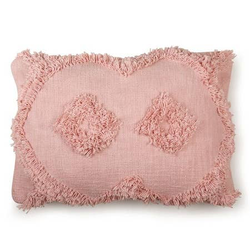 Shag Lumbar Pillow, Blush_14x20