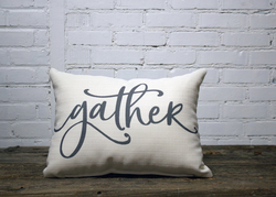 Gather Pillow - no piping - Briddick Tile + Stone