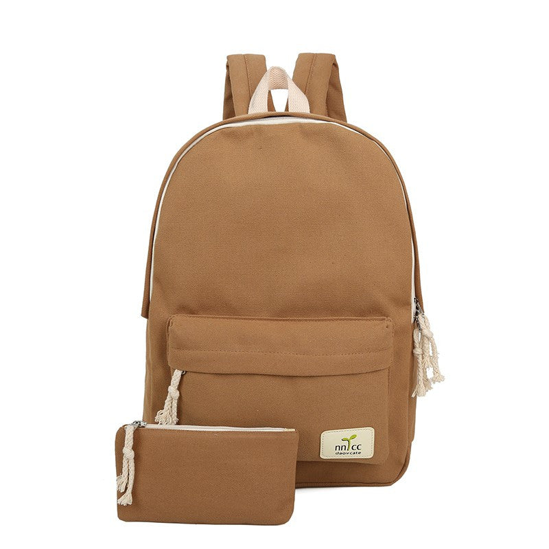 Old Fashion Canvas Backpack Set - Baliva