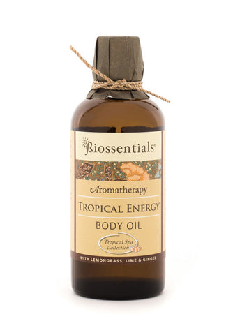 <strong>Biossentials Body & Massage Oil </strong><br/><strong>TROPICAL ENERGY</strong><br/><p>    Lemongrass, Ginger, Lime</p>