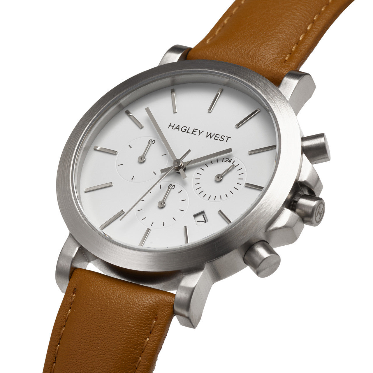 Chrono - HWW009 | White/Tan Leather