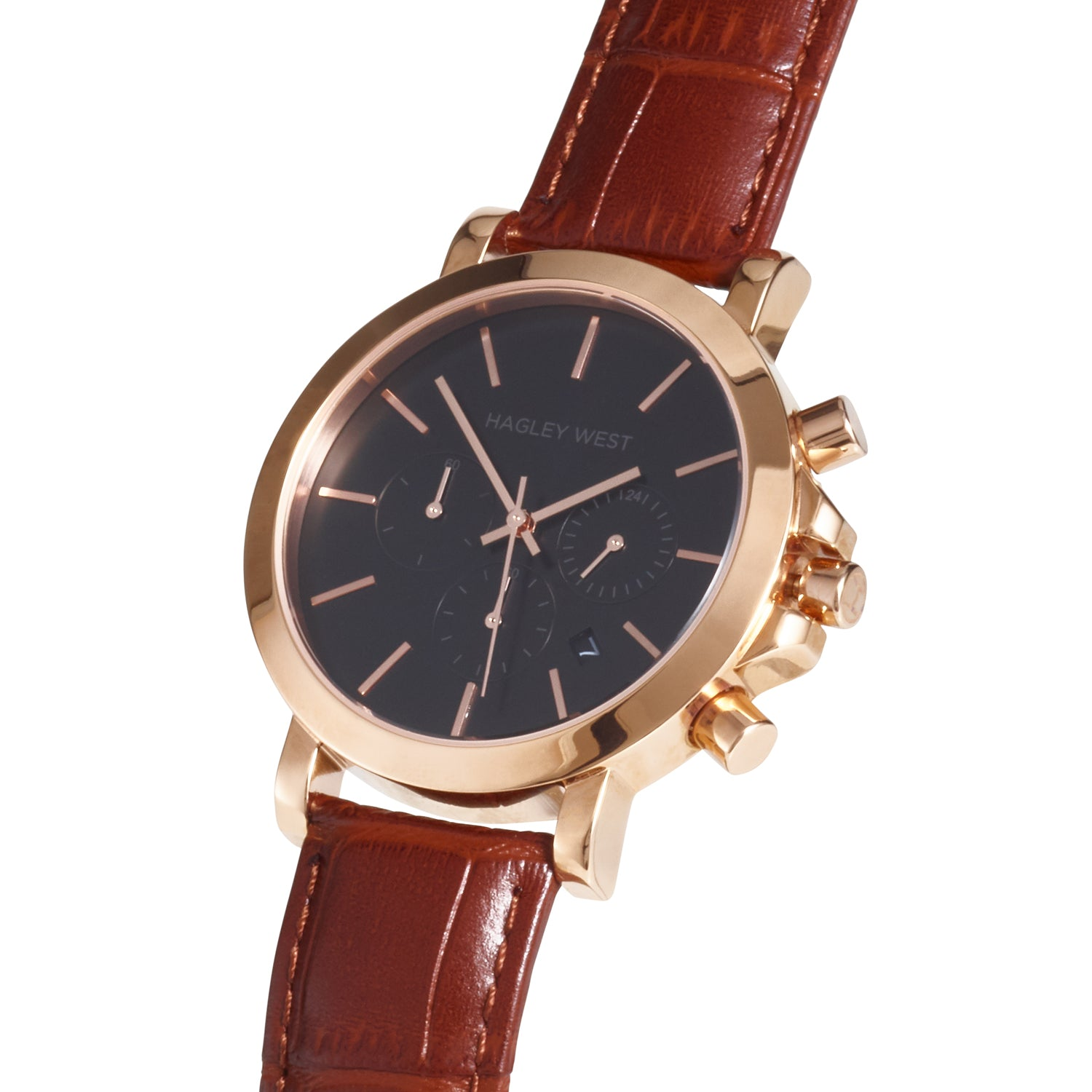 Chrono - HWW026 | Rose Gold/Brown Bamboo