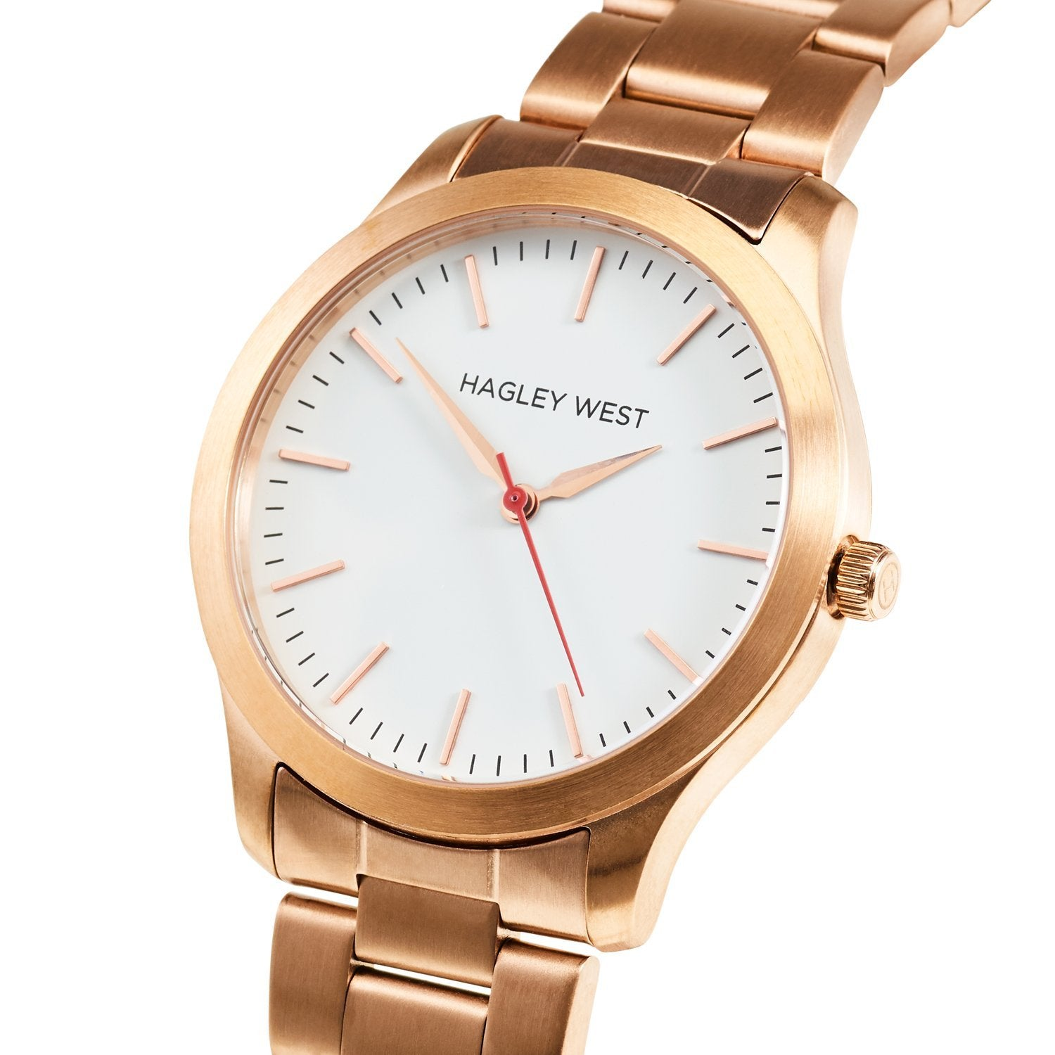 Classic - HWW021 | White/Rose Gold Link