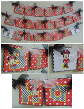 MINNIE AND MICKEY MOUSE HAPPY BIRTHDAY BANNER