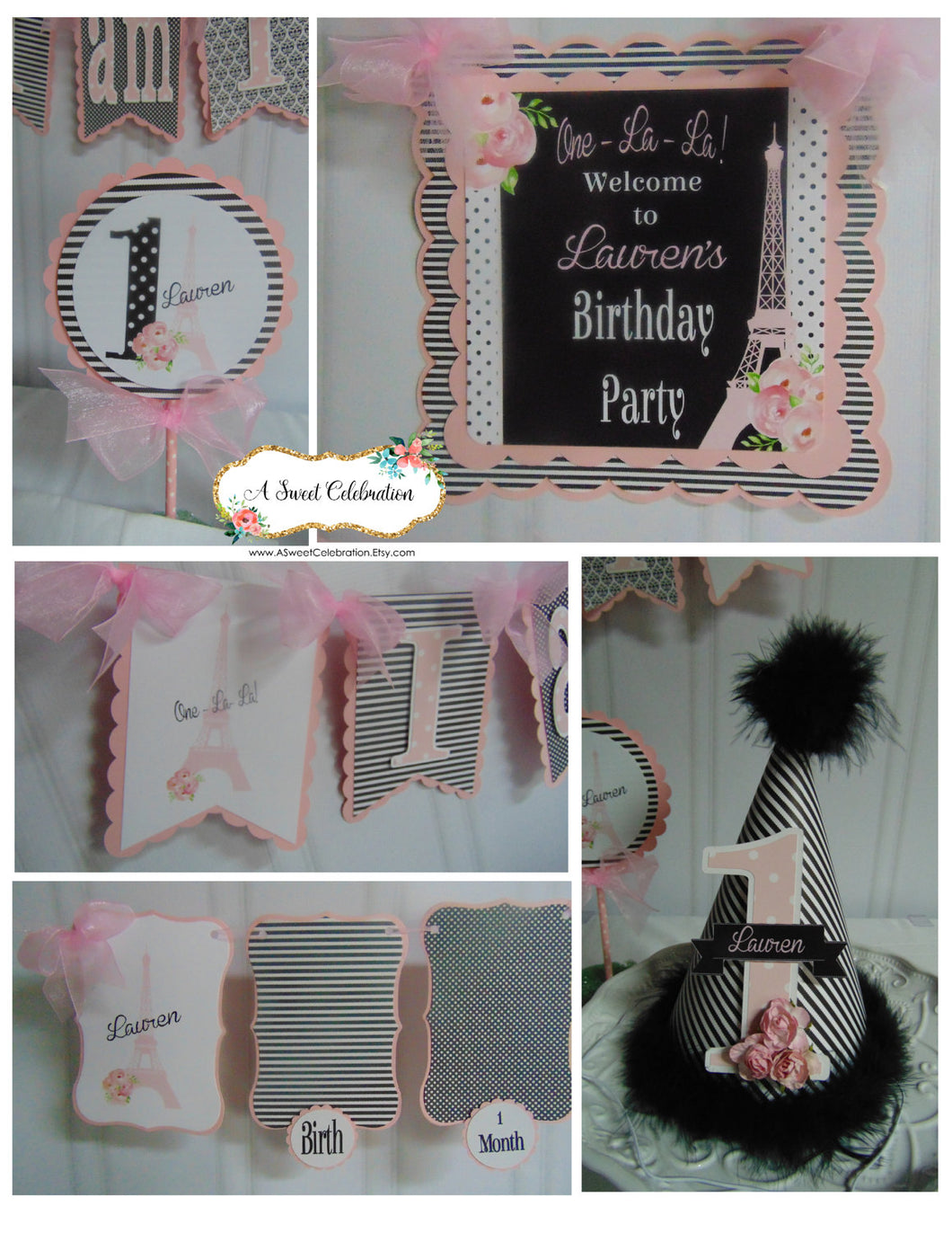 PARIS - PETITE - 1ST BIRTHDAY PARTY PACKAGE