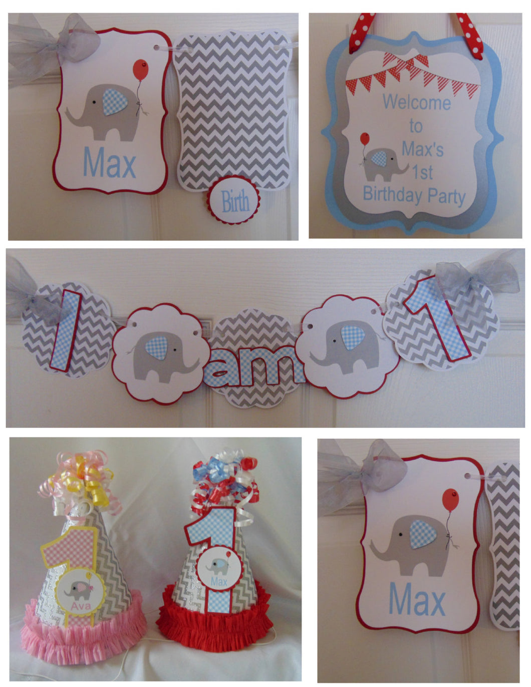ELEPHANT - PETITE 1st BIRTHDAY PARTY PACKAGE