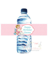 VINTAGE 1ST BIRTHDAY PINK - WATER BOTTLE LABELS