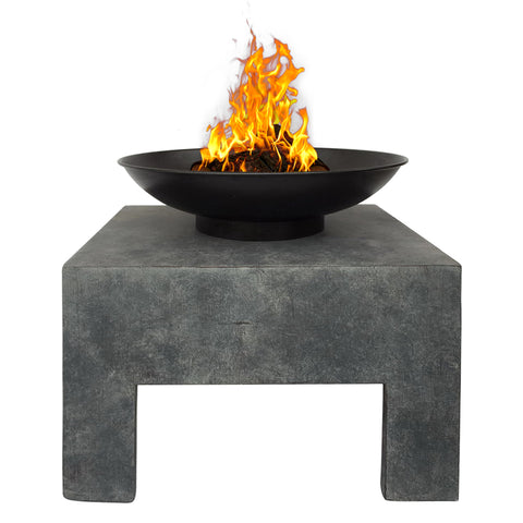 Fire Bowl With Square Stand