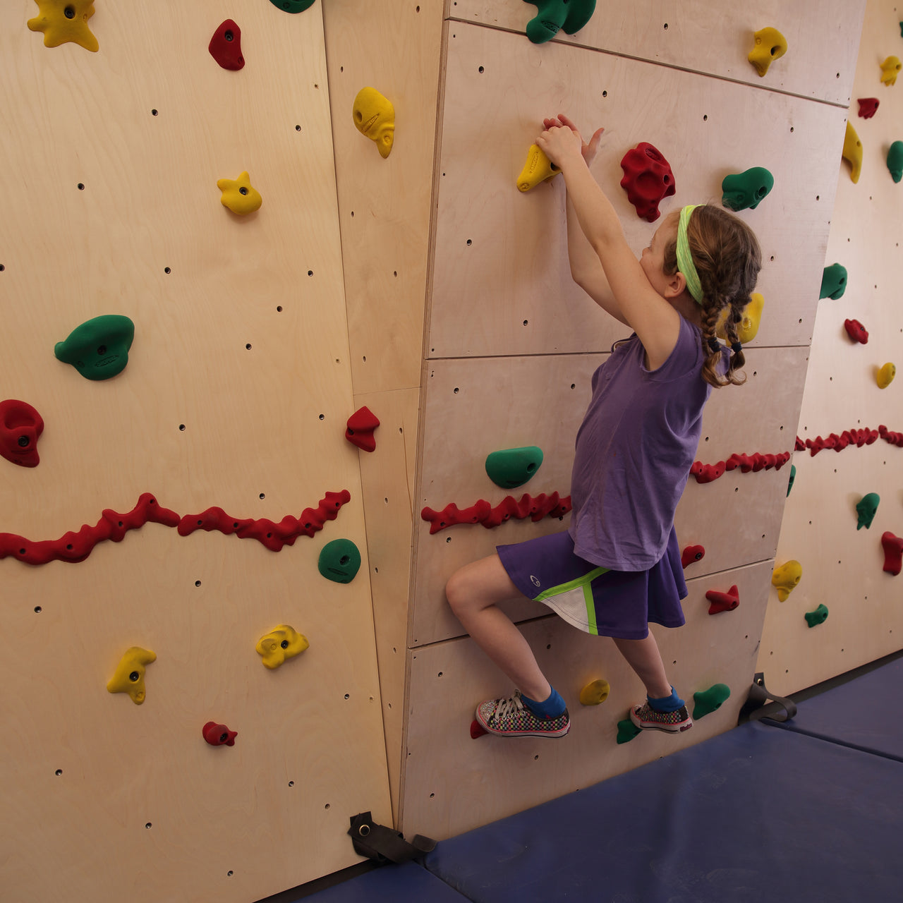 Increase the challenge of your climbing wall with an Overhang.