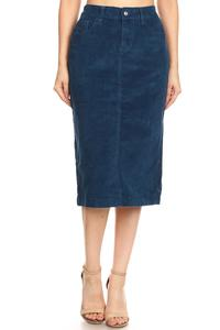 Analisa Brushed Corduroy Skirt