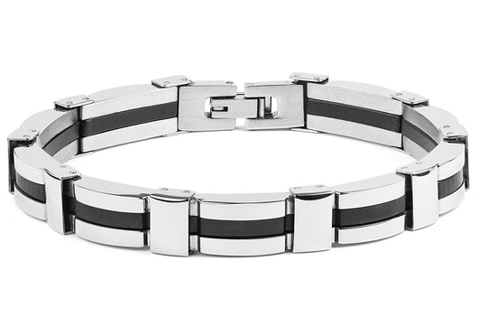 Mens Black Plated Stainless Steel Jewelry
