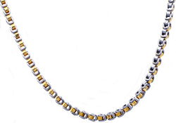 Mens Gold Plated Stainless Steel U Link Chain Necklace
