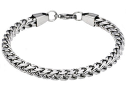 Mens Stainless Steel Franco Link Chain Bracelet