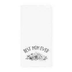 Best Mom Ever Kitchen Tea Towel - The Cotton and Canvas Co.