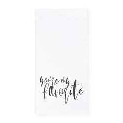 You're My Favorite Kitchen Tea Towel and Dish Cloth - The Cotton and Canvas Co.