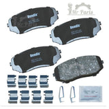 Bendix® CFC1258 - Premium Copper Free™ Ceramic Front Brake Pad Kit, fits 2007-2018 Ford Edge,  2010-2015 Lincoln MKX, 2007-2012 Mazda CX-7, 2007-2015 Mazda CX-9