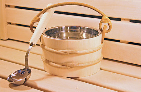Superior Saunas: Accessory Combo Kit - Aspen 1.8 Gallon SS Bucket and Ladle
