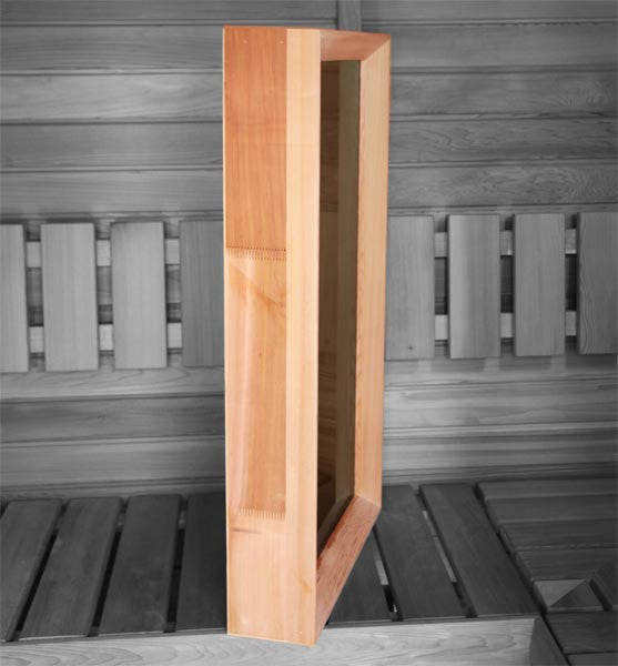 Superior Saunas: Window - Cedar Sauna Window 26 x 38 Clear