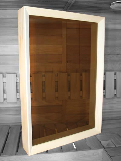 Superior Saunas: Window - Aspen Sauna Window 26 x 38 Bronze