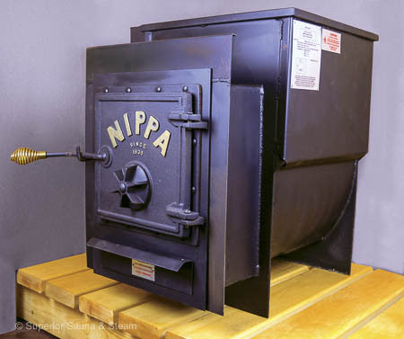 Superior Saunas: Sauna Heater - Nippa WB-24 Wood Stove with Firing Extension