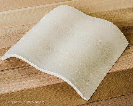 Superior Saunas: Headrest - Wave Pillow Aspen