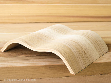 Superior Saunas: Headrest - Wave Pillow Red Cedar