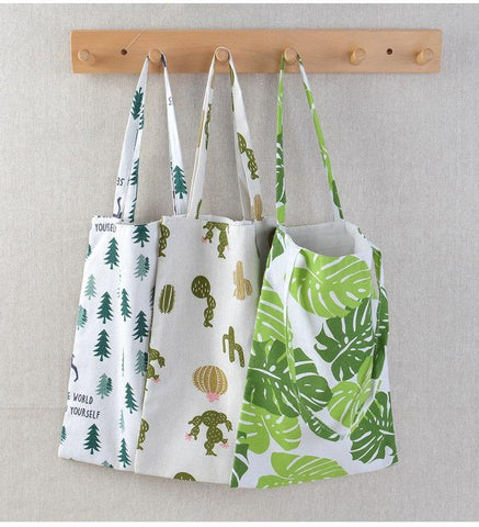 Eco Cotton Linen Foldable Tote Bag