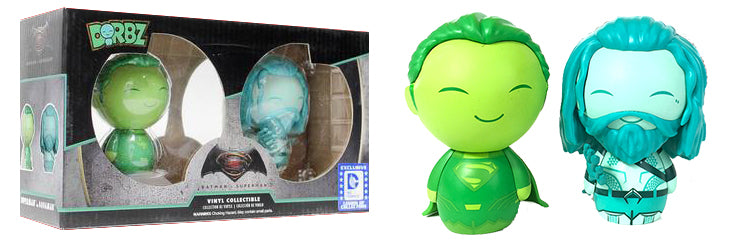 Dorbz Superman (Green)/Aquaman (Blue) 2-Pack - Legion of Collectors Exclusive