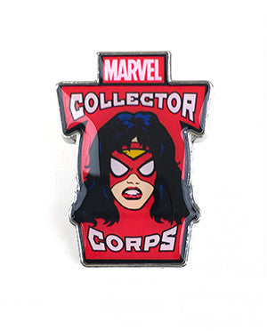 Marvel Collector Corps Exclusive Pins - Spider-Woman Pop Head