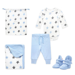 Zutano baby Gift Set Booties & More 4 Piece Baby Gift Set - Light Blue