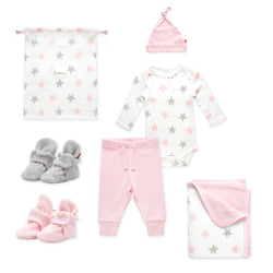 Zutano baby Gift Set Booties & More 6 Piece Baby Gift Set - Baby Pink