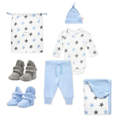 Zutano baby Gift Set Booties & More 6 Piece Baby Gift Set - Light Blue