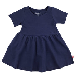 Zutano Dress Organic Cotton Forever Dress - True Navy