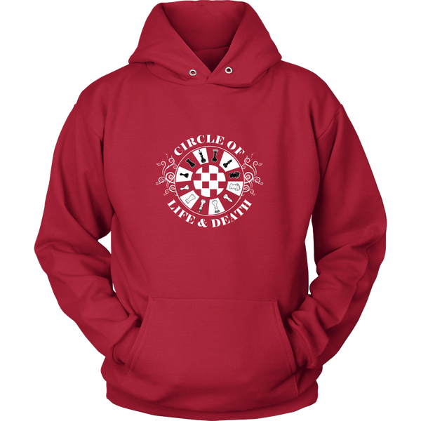 Chess - Circle of life and death  - Unisex Hoodie