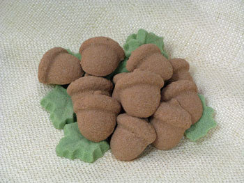 Tea Sugars shaped like acorns and leaves