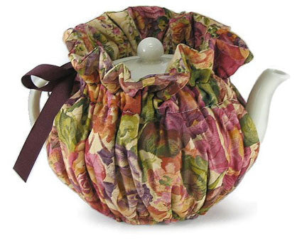 Burgundy Brocade Tea Cozy