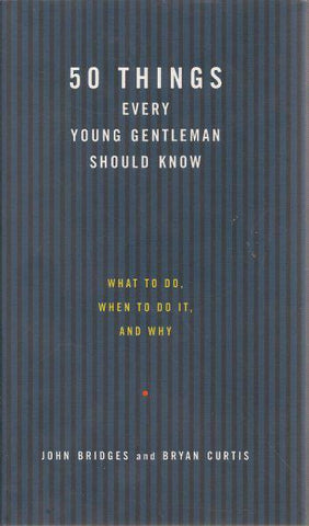 50 Things Every Gentleman Should Know - child's etiquette book