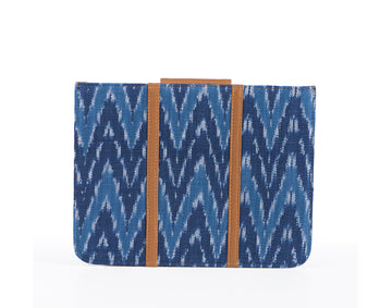 IPad Cover- Blue Ikat Durrie