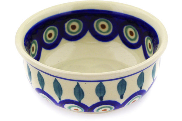 6 oz Condiment Bowl - Peacock | Polish Pottery House
