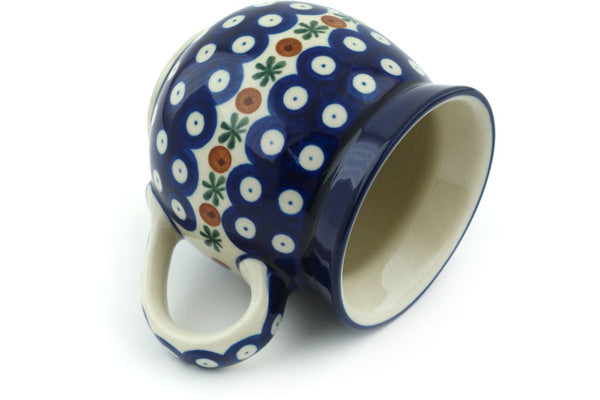 12 oz Bubble Mug - Blue Old Poland | Polish Pottery House