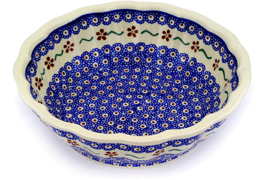 9 cup Fluted Bowl - 864 | Polish Pottery House