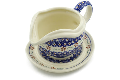 21 oz Gravy Boat with Saucer - 864 | Polish Pottery House