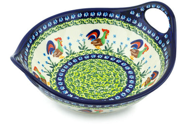 4 cup Serving Bowl with Handles - Rise & Shine | Polish Pottery House