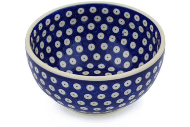 6 cup Serving Bowl - Polka Dot | Polish Pottery House