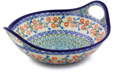 4 cup Serving Bowl with Handles - DU95 | Polish Pottery House