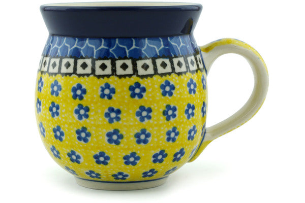 12 oz Bubble Mug - Blue Sunshine | Polish Pottery House