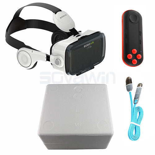 Pro Leather VR Headset 3D Glasses Virtual Reality Helmet Cardboard  Glasses