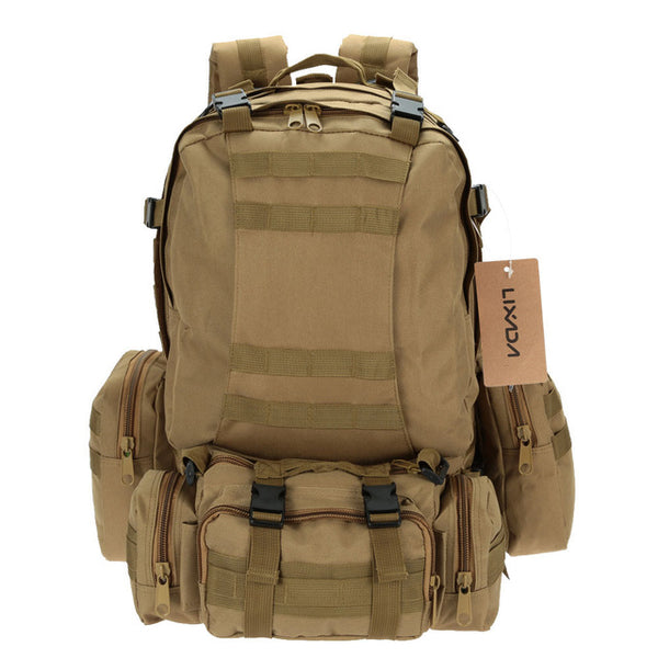 Military Tactical Backpack Rucksack Outdoor Climbing Bag with MOLLE Webbings
